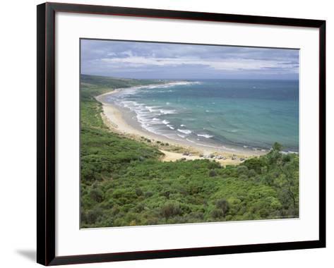 Coast of the Angahook-Lorne State Park, West of Anglesea, on Great Ocean Road, Victoria, Australia-Robert Francis-Framed Art Print