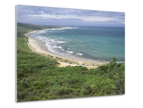 Coast of the Angahook-Lorne State Park, West of Anglesea, on Great Ocean Road, Victoria, Australia-Robert Francis-Metal Print