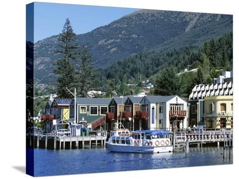 The Waterfront, Queenstown, Lake Wakatipu, Otago, South Island, New Zealand-Robert Francis-Stretched Canvas Print
