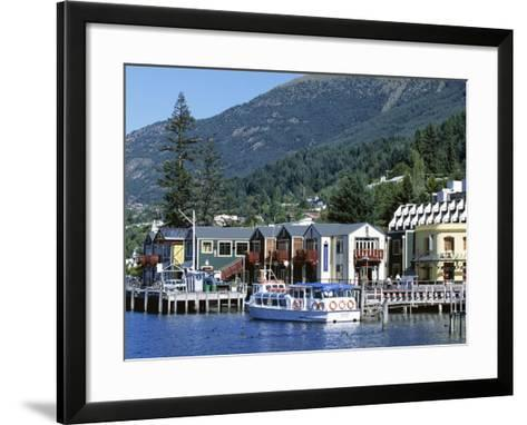 The Waterfront, Queenstown, Lake Wakatipu, Otago, South Island, New Zealand-Robert Francis-Framed Art Print
