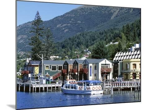 The Waterfront, Queenstown, Lake Wakatipu, Otago, South Island, New Zealand-Robert Francis-Mounted Photographic Print