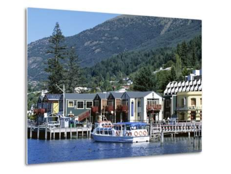 The Waterfront, Queenstown, Lake Wakatipu, Otago, South Island, New Zealand-Robert Francis-Metal Print