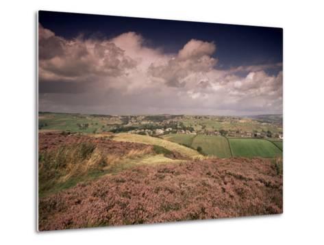 Countryside Near Haworth, Yorkshire, England, United Kingdom-R Mcleod-Metal Print