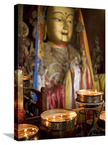 Meru Nyingba Monastery, Bharkor, Lhasa, Tibet, China-Don Smith-Stretched Canvas Print