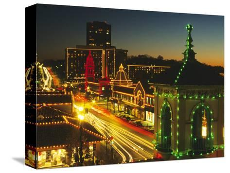 Holiday Lights, Country Club Plaza, Kansas City, Missouri, USA-Michael Snell-Stretched Canvas Print
