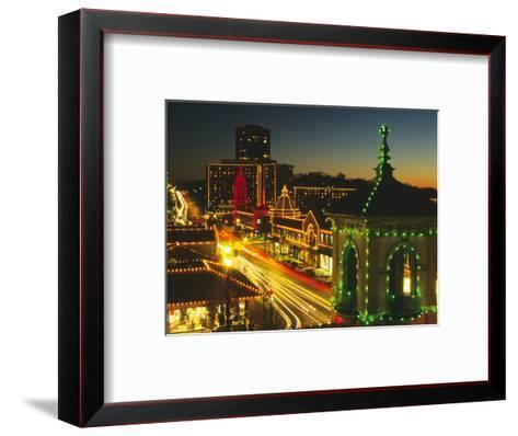 Holiday Lights, Country Club Plaza, Kansas City, Missouri, USA-Michael Snell-Framed Art Print