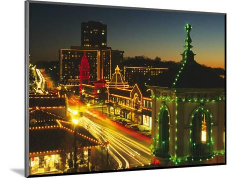 Holiday Lights, Country Club Plaza, Kansas City, Missouri, USA-Michael Snell-Mounted Photographic Print