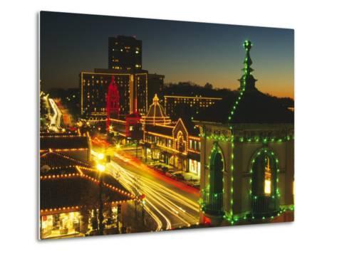 Holiday Lights, Country Club Plaza, Kansas City, Missouri, USA-Michael Snell-Metal Print