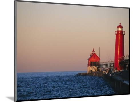 Grand Haven Lighthouse on Lake Michigan, Grand Haven, Michigan, USA-Michael Snell-Mounted Photographic Print