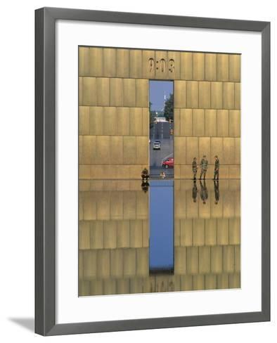 Oklahoma City National Memorial, Oklahoma City, Oklahoma, USA-Michael Snell-Framed Art Print