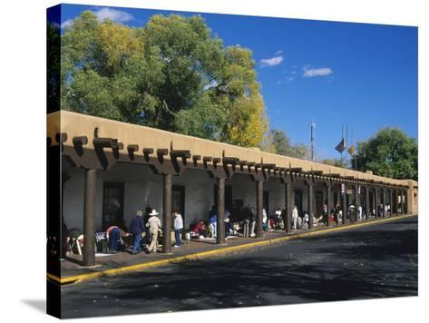 Palace of the Governors, Santa Fe, New Mexico, USA-Michael Snell-Stretched Canvas Print