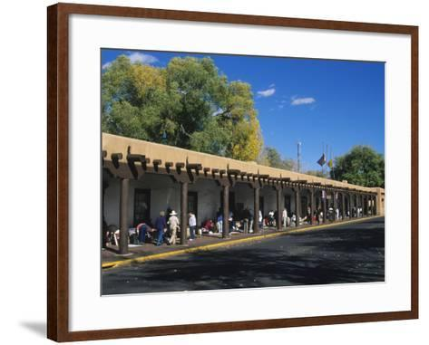 Palace of the Governors, Santa Fe, New Mexico, USA-Michael Snell-Framed Art Print