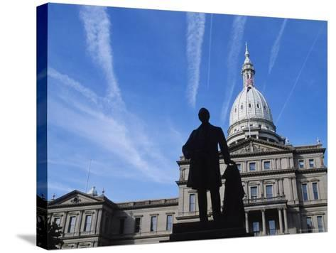 Michigan State Capitol, Lansing, Michigan, USA-Michael Snell-Stretched Canvas Print