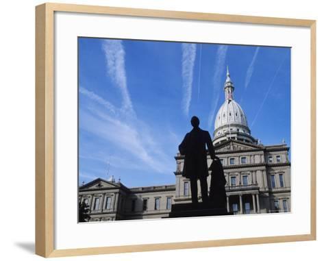 Michigan State Capitol, Lansing, Michigan, USA-Michael Snell-Framed Art Print