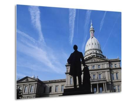 Michigan State Capitol, Lansing, Michigan, USA-Michael Snell-Metal Print