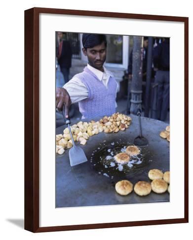 Street Food, Delhi, India-John Henry Claude Wilson-Framed Art Print