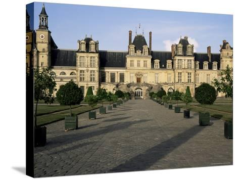 Horseshoe Staircase, Chateau of Fontainebleau, Unesco World Heritage Site, Seine-Et-Marne, France-Nedra Westwater-Stretched Canvas Print