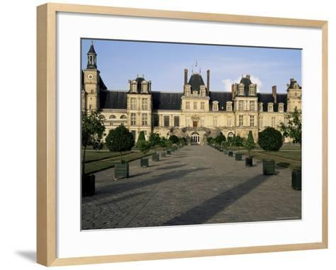 Horseshoe Staircase, Chateau of Fontainebleau, Unesco World Heritage Site, Seine-Et-Marne, France-Nedra Westwater-Framed Art Print