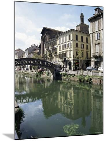 Canal at Porta Ticinese, Naviglio Grande, Milan, Lombardy, Italy-Sheila Terry-Mounted Photographic Print