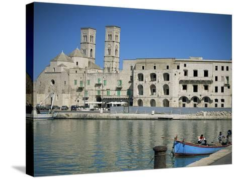 View Across Harbour to Duomo Vecchio, Molfetta, Puglia, Italy, Mediterranean-Sheila Terry-Stretched Canvas Print