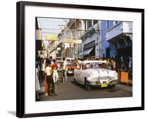 Old Pontiac, an American Car Kept Working Since Before the Revolution, Santiago De Cuba, Cuba-Tony Waltham-Framed Art Print