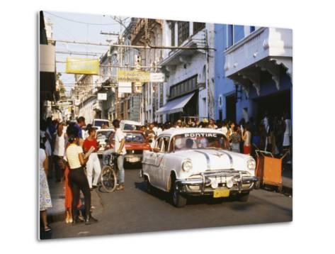 Old Pontiac, an American Car Kept Working Since Before the Revolution, Santiago De Cuba, Cuba-Tony Waltham-Metal Print