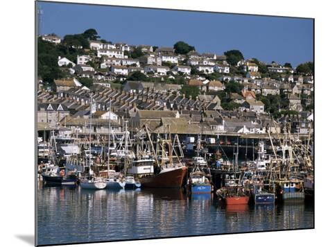 Fishing Boats in Harbour, Newlyn, Cornwall, England, United Kingdom-Tony Waltham-Mounted Photographic Print