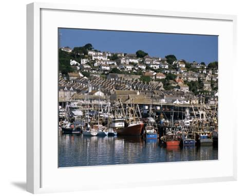 Fishing Boats in Harbour, Newlyn, Cornwall, England, United Kingdom-Tony Waltham-Framed Art Print