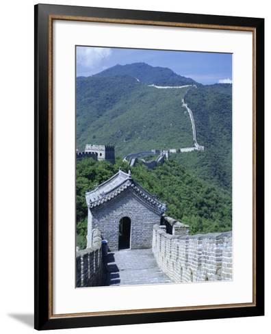 Restored Section with Watchtowers of the Great Wall, Northeast of Beijing, Mutianyu, China-Tony Waltham-Framed Art Print