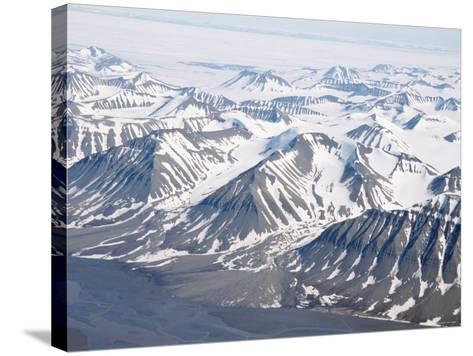 Glaciers and Nunateks of Winsnesfjelle, Torrell Land, Spitsbergen, Svalbard, Arctic, Norway-Tony Waltham-Stretched Canvas Print