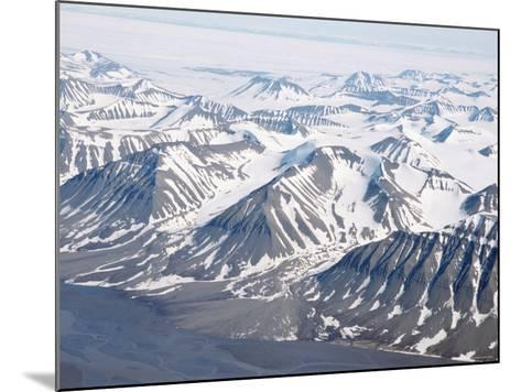 Glaciers and Nunateks of Winsnesfjelle, Torrell Land, Spitsbergen, Svalbard, Arctic, Norway-Tony Waltham-Mounted Photographic Print