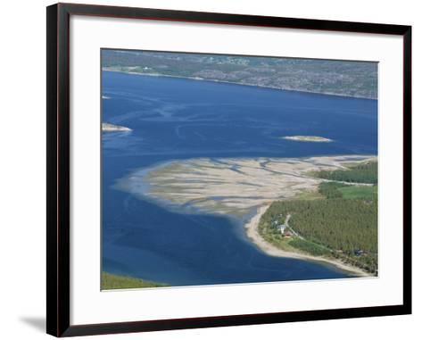 Delta of Sand at River Mouth, Kvaenangen Sorfjord, North Norway, Scandinavia-Tony Waltham-Framed Art Print