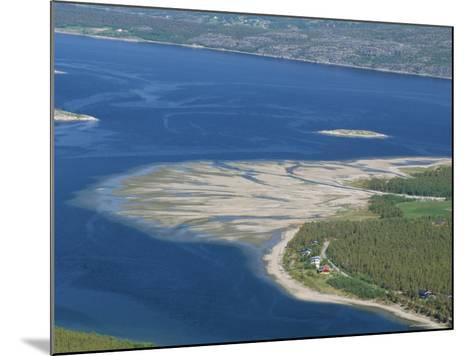 Delta of Sand at River Mouth, Kvaenangen Sorfjord, North Norway, Scandinavia-Tony Waltham-Mounted Photographic Print