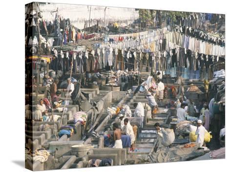Municipal Laundry, Mahalaxmi Dhobi Ghat, Mumbai (Bombay), India-Tony Waltham-Stretched Canvas Print
