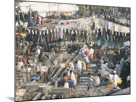 Municipal Laundry, Mahalaxmi Dhobi Ghat, Mumbai (Bombay), India-Tony Waltham-Mounted Photographic Print