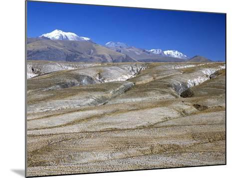Altiplano Desert Plateau, Near Arequipa, Peru, South America-Tony Waltham-Mounted Photographic Print
