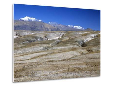 Altiplano Desert Plateau, Near Arequipa, Peru, South America-Tony Waltham-Metal Print