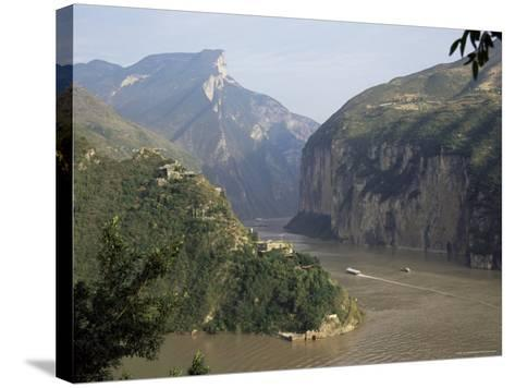 Upstream End Seen from Fengjie, Qutang Gorge, Three Gorges, Yangtze River, China-Tony Waltham-Stretched Canvas Print