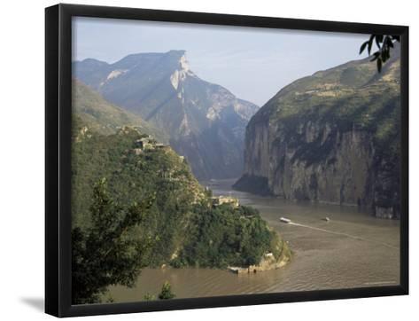 Upstream End Seen from Fengjie, Qutang Gorge, Three Gorges, Yangtze River, China-Tony Waltham-Framed Art Print