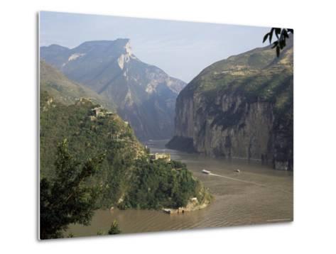 Upstream End Seen from Fengjie, Qutang Gorge, Three Gorges, Yangtze River, China-Tony Waltham-Metal Print