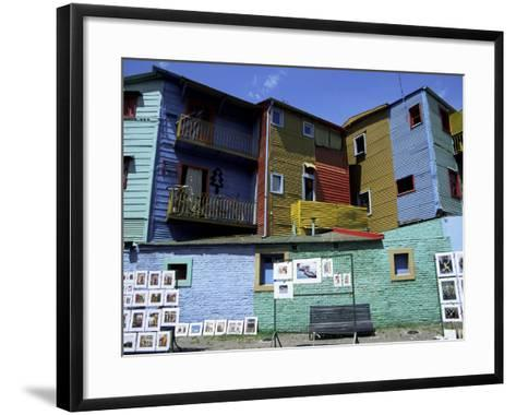 Paintings, La Boca, Buenos Aires, Argentina, South America-Jane Sweeney-Framed Art Print