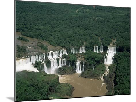 Aerial View of the Iguassu Falls, Iguassu National Park, Unesco World Heritage Site, Parana, Brazil-Jane Sweeney-Mounted Photographic Print