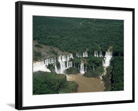 Aerial View of the Iguassu Falls, Iguassu National Park, Unesco World Heritage Site, Parana, Brazil-Jane Sweeney-Framed Art Print