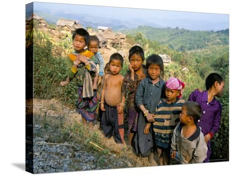 Village Children, Udomoxai (Udom Xai) Province, Laos, Indochina, Southeast Asia-Jane Sweeney-Stretched Canvas Print
