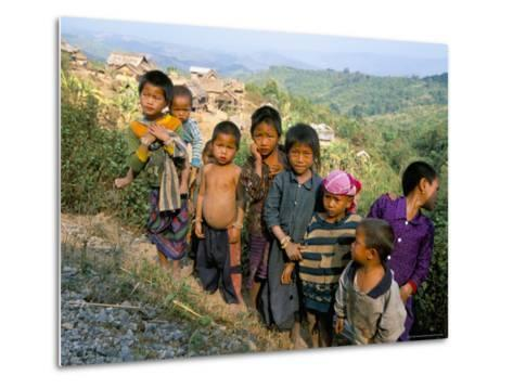 Village Children, Udomoxai (Udom Xai) Province, Laos, Indochina, Southeast Asia-Jane Sweeney-Metal Print