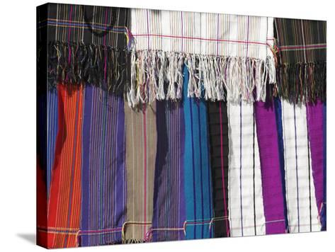 Textiles from Padaung Tribe, Shan State, Myanmar (Burma)-Jane Sweeney-Stretched Canvas Print