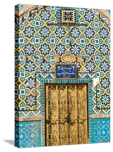 Tiling Round Door, Who was Assissinated in 661, Balkh Province, Afghanistan-Jane Sweeney-Stretched Canvas Print