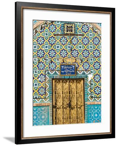 Tiling Round Door, Who was Assissinated in 661, Balkh Province, Afghanistan-Jane Sweeney-Framed Art Print