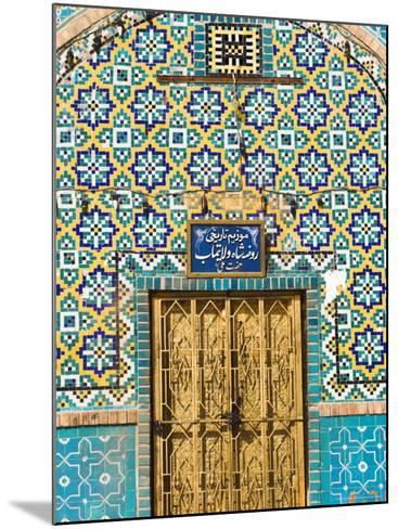 Tiling Round Door, Who was Assissinated in 661, Balkh Province, Afghanistan-Jane Sweeney-Mounted Photographic Print