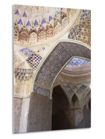 Mosque Interior at the Ruins of Takht-I-Pul, Balkh, Afghanistan-Jane Sweeney-Metal Print